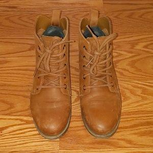 Steve Madden Cognac Ankle Boots 6.5